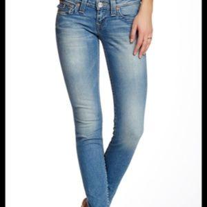 True Religion | light wash julie skinny jeans